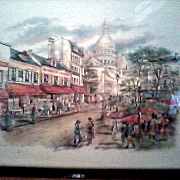 MONTMARTRE, LA PLACE DU TERTRE /WATERCOLOR PRINT CIRCA 1980's - Posters and Prints