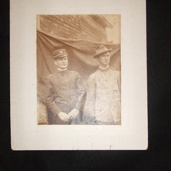 Interesting pair of Spanish American War Medical Personnel - Photographs