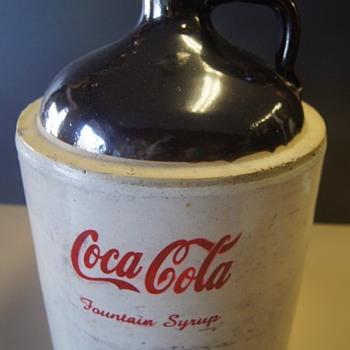 Old 1900's Coca Cola Stoneware 2 Gal. Jug