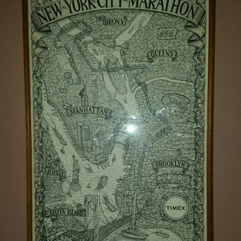 1983 James Grashow New York City Marathon poster