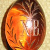 A RUSSIAN GLASS EASTER EGG