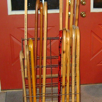 Store Display Walking Cane Rolling Wire Rack