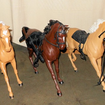 Marx Johnny West Flame Horse - Toys