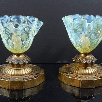 Opaline Brocade lamp shades by John Walsh Walsh