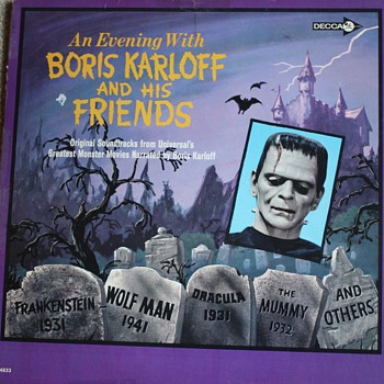 """An Evening with Boris Karloff and His Friends"" Record - Movies"