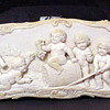 Huge and rare pre ban ivory cameo of cherubs