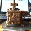 1800's queen wood cook stove with pick and 4 burners