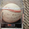 Hank Aaron autographed baseball &quot;home run king 58/100&quot; psa/dna authenticated