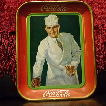 1927 Better Condition Soda Jerk Tray