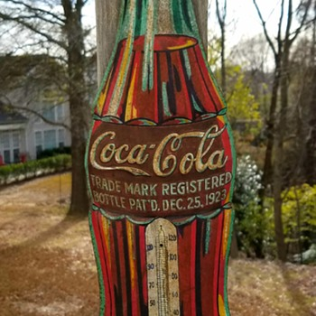 Coca Cola Christmas Bottle Thermometer