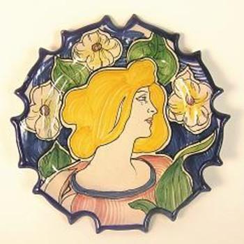Third Art Nouveau plate