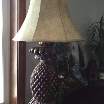 My new favorite pineapple lamp