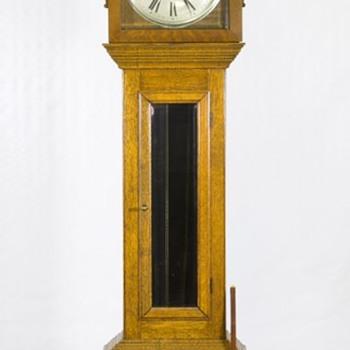 Tallcase Oak Grandfather clock - Clocks