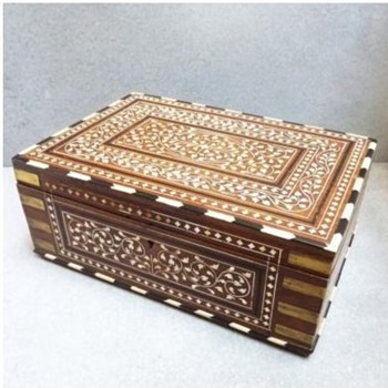 Anglo-Indian Rosewood Dressing Box with Ebony/Invory Inlay - Furniture