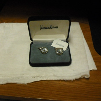 Neiman Marcus Sterling Compass Cuff Links - Accessories