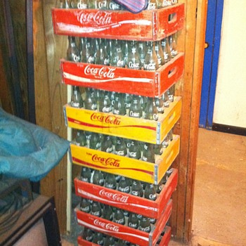 7 cases and a 6 pack from late 60's - Coca-Cola