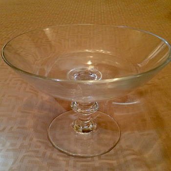 Mystery SIGNED BLOWN GLASS Compote - Can you decipher?