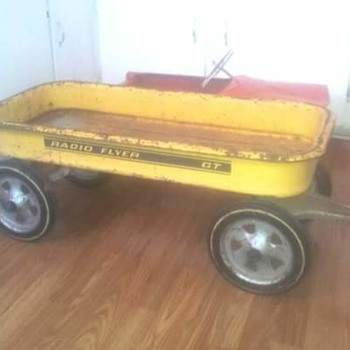 Yellow Radio Flyer GT Muscle Wagon