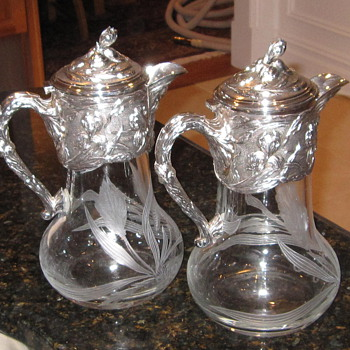 Are these antiques? Cleaned up the silver, no markings or signature - Sterling Silver