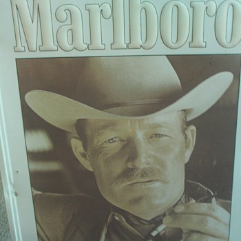Tin Marlboro Cowboy Sign - Advertising
