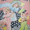 1937 NURSERY RHYMES LINEN BOOK