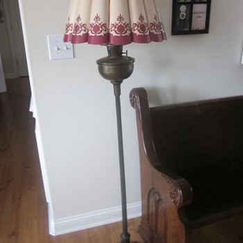 Aladdin Floor Lamp With John Paul Fluted Shade