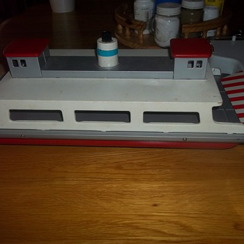 VINTAGE TOY CAR FERRY AND DOCK