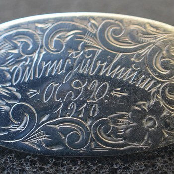 Unger Brothers Sterling Silver Pin, and a foreign language.....