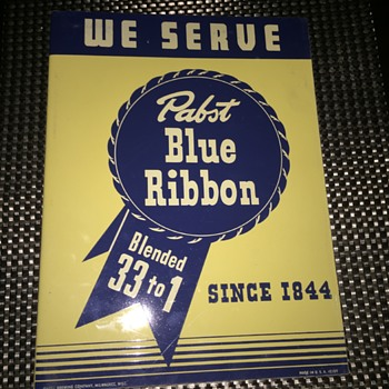 Rare Vintage pabst blue ribbon pub sign - Breweriana