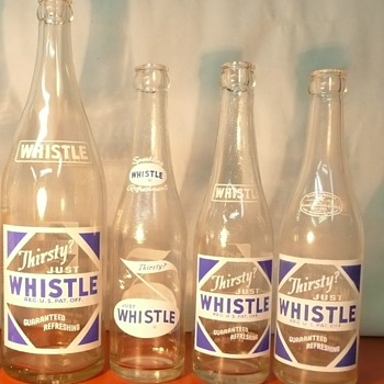 Whistle Soda Bottles