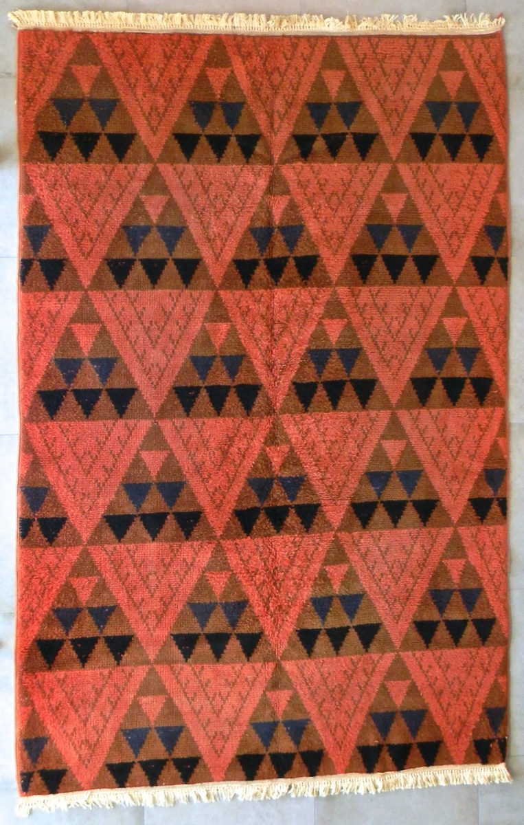 Vintage Mid Century Modern Turkish Area Rug Collectors