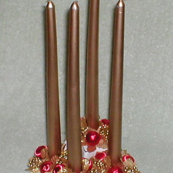 Christmas Candles Centerpiece - Christmas