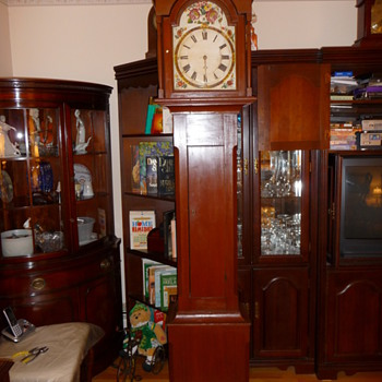 old tall case clock