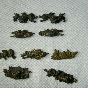 Small brass? oriental figures - Asian