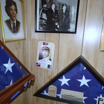 WW-2, Spanish American War memorial in 2nd bedroom and dad's hats! - Military and Wartime