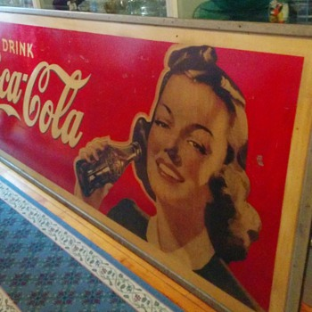 Large 4' x 10' CocaCola sign question - Coca-Cola