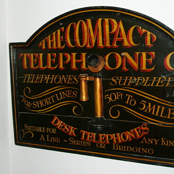 The Compact Telephone Co. Sign - Telephones