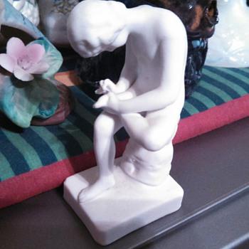 Bisque porcelain Boy with Splinter figurine