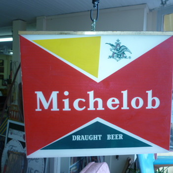 Vintage Michelob Hanging Light Water Skiing