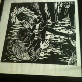 Block printed picture