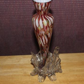 Unusual Footed Vasse - Art Glass