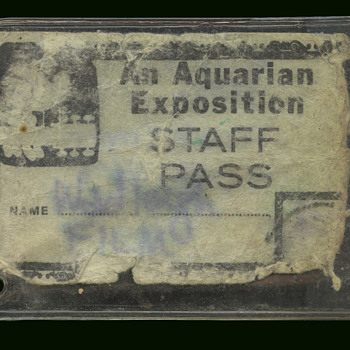 "Original Woodstock 1969 ""An Aquarian Exposition"" Staff Pass - Music Memorabilia"
