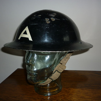 British WWII Ambulance crew steel helmet.