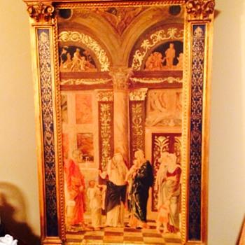 Beautiful large Italian painting