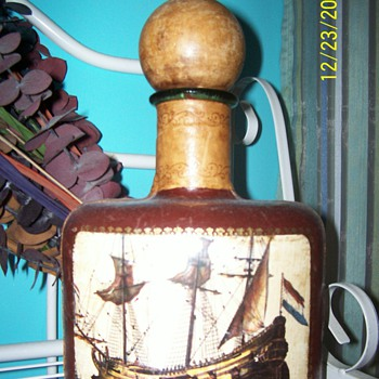 Leather  bound container - Bottles