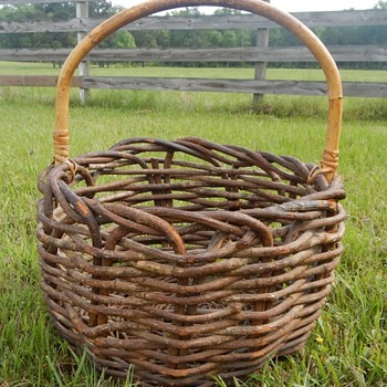 Folk Art Twig Branch Large Basket - Folk Art