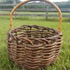Folk Art Twig Branch Large Basket