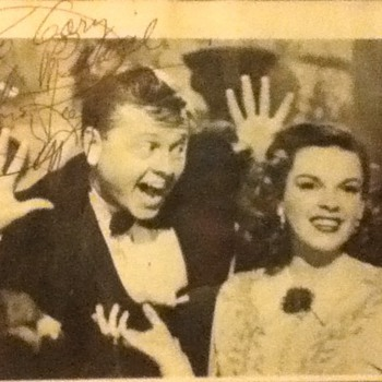Autographed Mickey Rooney Still