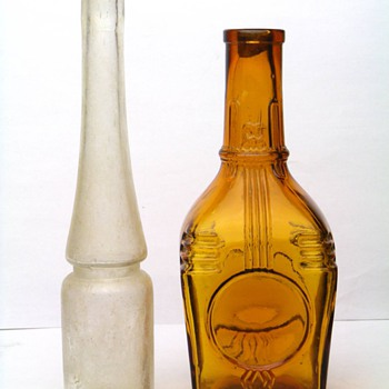 BEAUTIFUL ANTIQUE BOTTLES FROM BOHEMIA