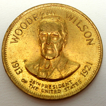 Woodrow Wilson Copper Commerative Coin 1913-1921